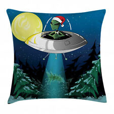 Cartoon Throw Pillow Case Alien Christmas Art Square Cushion Cover 18 Inches