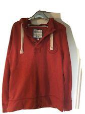 Fatface Vintage Red Hoodie Sweatshirt Small Mens