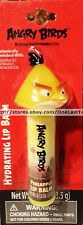 ANGRY BIRDS Flavored Lip Balm PINEAPPLE w/ CHUCK Yellow Bird Head Topper carded