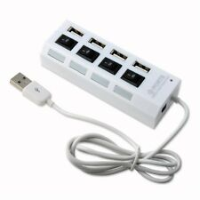 Technotech High Speed 4 Port USB HUB 2.0 With Individual Switches White