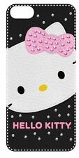 Hello Kitty Hardshell Case for iPhone 5 with Soft Leather Feel and Bling Accents