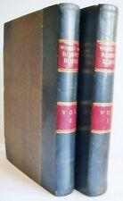 1870 THE WORKS OF ROBERT BURNS 2 vols Prof Wilson VGC many plates BINDING FAULT
