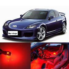 12Pcs  Premium Red Interior  LED Lights Package Kit For Mazda RX-8 2004-2011