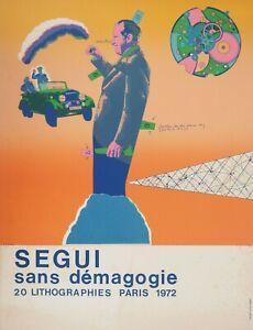 Antonio Segui: Wireless Démagogie - Lithography Original Signed, 1972