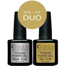 QUTIQUE BASE & TOP COAT Gel Nail Polish Colour Duo/Pack/Set/Kit -LED & UV