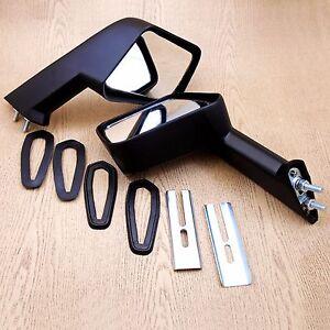 Fender Mirrors Pair Set L/R Black Long Square Toyota Corolla KE20 KE26 KE30