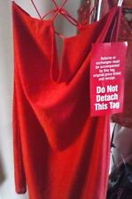 Women's New With Tag Red Dress  Large Ties Dressy