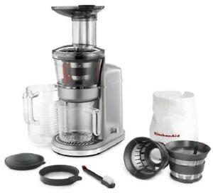 KitchenAid KVJ0111CU Maximum Extraction Juicer, Contour Silver NEW Open Box