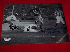 JOHNNY LATTNER 1953 NOTRE DAME HEISMAN Signed 8x10 PHOTO 2 PSA CERTIFIED
