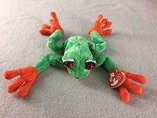Ty Beanie Babies Panama Green Tree Frog Plush 2001