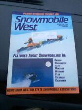 Oct1983 snowmobile West Magazine  Ski Doo Arctic Cat Polaris Indy 400