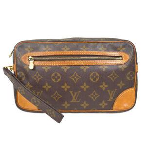 LOUIS VUITTON MARLY DRAGONNE CLUCTH HAND BAG PURSE MONOGRAM M51825 ai 70803