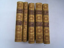 Modern Painters 5 Volume Set 1872 Quarter Leather Marbled Plates WB
