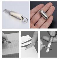 Brass Mini Outdoor Folding Knife Keyring Small Pocket Keychain Key Ring Men Gift