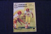 CIF playoffs football program Servite Friars ( Anaheim ) @ Fontana Steelers 1978