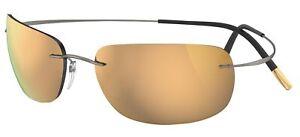 Occhiali da Sole Silhouette TMA MUST 8713 Ruthenium/Gold taglia unica unisex