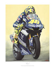 Valentino Rossi vermiesen Yamaha-MotoGP Limited Edition Print Poster
