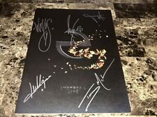 Evanescence Rare Band Signed Autographed Synthesis Tour Book Program Amy Lee COA