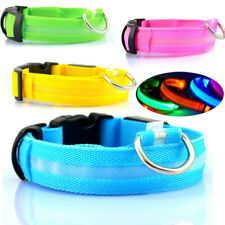 LED Collar Light Luminous Adjustable Safety Tag Buckle Night Pet Dog Wholesale
