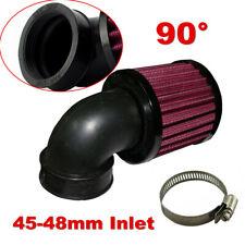 Universal Motorcycle Air Cleaner Intake Filter Black For Bobber Chopper Cruiser