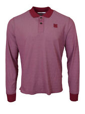 CP Company Tacting Long Sleeved Polo Shirt Red BNWT RRP £115