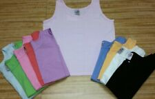 100% Cotton Ladies Crop Jersey Tank Top. Made in USA