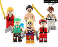 2017 6 SET Street Fighter(SF) Building Blocks Toy MiniFigures Fits Lego Toys