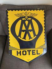 More details for vintage aa hotel enamel sign ( franco sw1 )