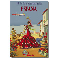 Fridge magnet Vintage Travel Poster: Spain Madrid Barcelona