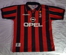 Vintage Lotto AC Milan OPEL Soccer Futbol Jersey Size Large Made in Italy