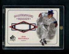 2001 Don Mattingly Upper Deck SP Authentic Game Worn Jersey card NY Yankees