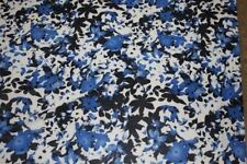 Blues Abstract Floral ITY Print #39 Stretch Polyester Lycra Spandex Fabric BTY