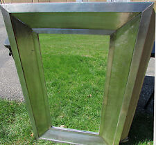 "NEW XL GARNER MIRROR 44"" x 28"" INDUSTRIAL LOOK Distressed Metal Over Wood WOW!"
