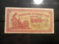 billete 1 peseta del consejo de asturias y leon