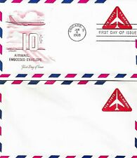 U.S. 1968 RED JET TRIANGLE 10c Airmail #UC40 on Artmaster FDC Cachet & Mint Copy