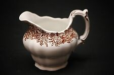 Old Vintage Vine & Wheat Brown Leaves Grapes by Booths Milk Creamer England