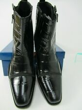 Giorgio Brutini  Dress Boots Black Animal Print Leather - Mens Size 8 M  S1002