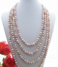 """100"""" AAA 7-8 MM SOUTH SEA NATURAL multicolor PEARL NECKLACE"""