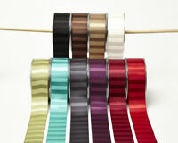 Satin Horizontal Striped Ribbon 38mm wide 3 Metre 10 COLOUR Choice MayArts BL13