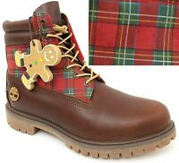 """Timberland Men's Premium 6"""" inch Brown Leather Boots HOLIDAY Sugar & Spice A1U66"""