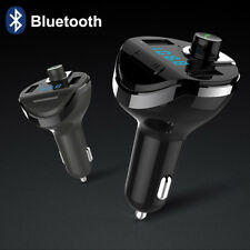 T20 Wireless Bluetooth Car MP3 Player FM Transmitter Radio LCD Dual USB Charger