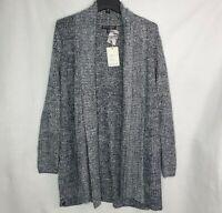 Barefoot Dreams Cozy Chic Lite Montecito Cardigan Sweater Indigo Stone XL NEW