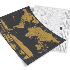 Large Black Gold Scraping Map World Map Beautiful Decorate Professional Map