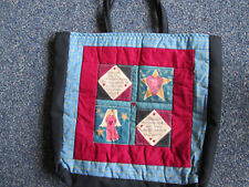 Handmade Quilted Women's Tote Bag 2 handles Travel Carry All bag Blessed Are