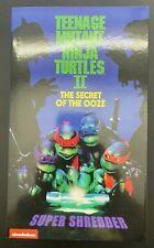 NECA TMNT Ninja Turtles Deluxe Super Shredder Action Figure Purple Suit NEW