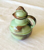 Vintage Frankoma Creamer Pitcher 93 Art Pottery Prairie Green  L4