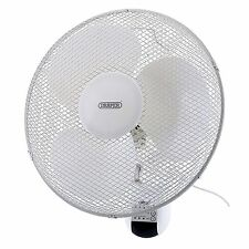 """Draper 16"""" Remote Controlled 3 Speed Oscillating Wall Mounted Fan - 75098"""
