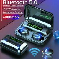 Auriculares Bluetooth 5.0 Inalámbricos Android con caja de carga Display LCD NEW