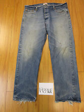 levi 501 feather destroyed grunge jean tag 42x34 Meas 38x30.5 19390F