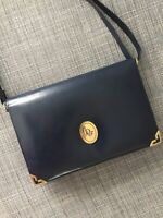 Women's CHRISTIAN DIOR Navy 70s Vintage Shoulderbag Hand Bag Purse